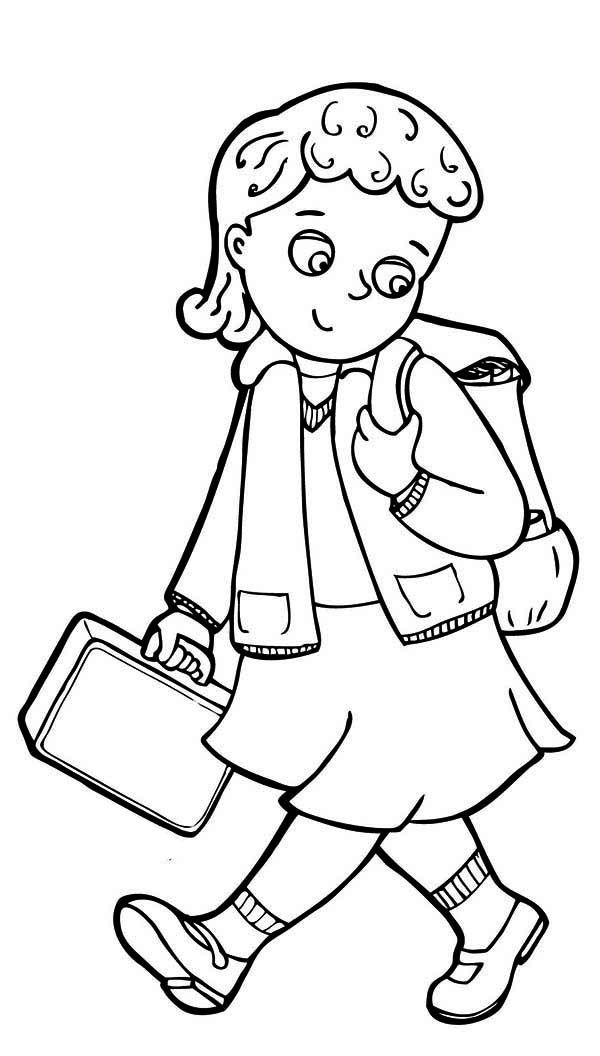 school girl coloring pages cute little girls coloring pages coloring home coloring school girl pages