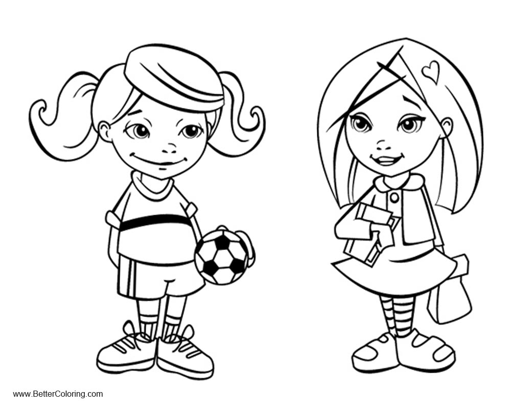 school girl coloring pages daisy girl colorable line art free clip art girl coloring pages school