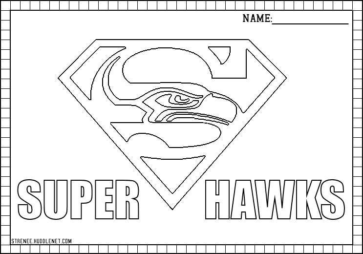 seahawks coloring pages seahawks logo drawing at getdrawings free download coloring seahawks pages