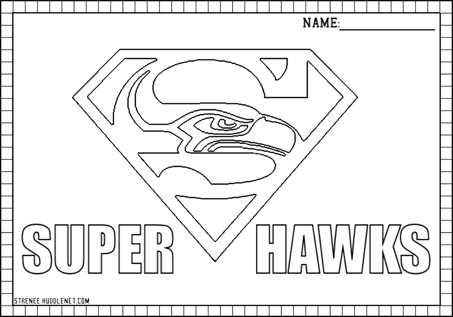 seahawks coloring pages seattle seahawks drawing at getdrawings free download coloring seahawks pages
