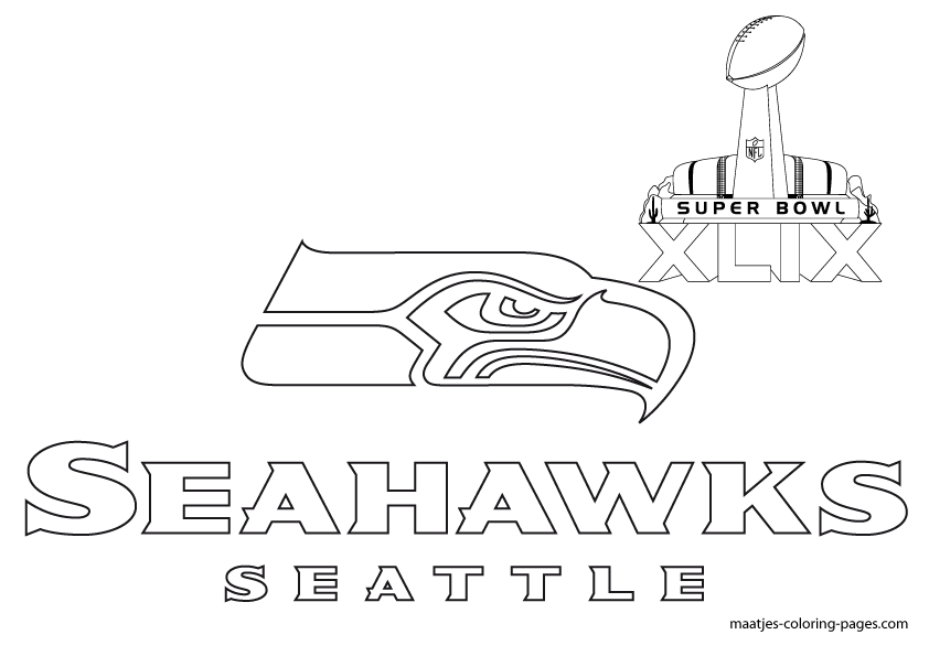 seahawks coloring pages seattle seahawks logo drawing at getdrawings free download pages seahawks coloring