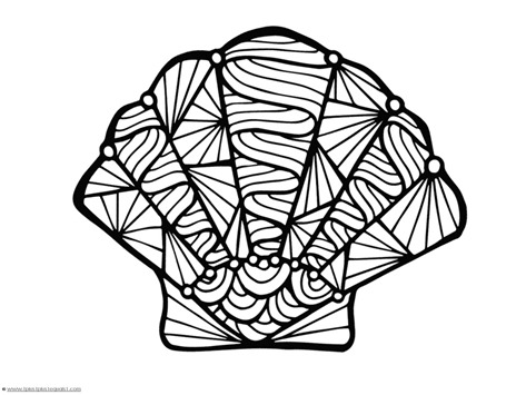 seashell coloring page seashells coloring page instant download etsy page coloring seashell