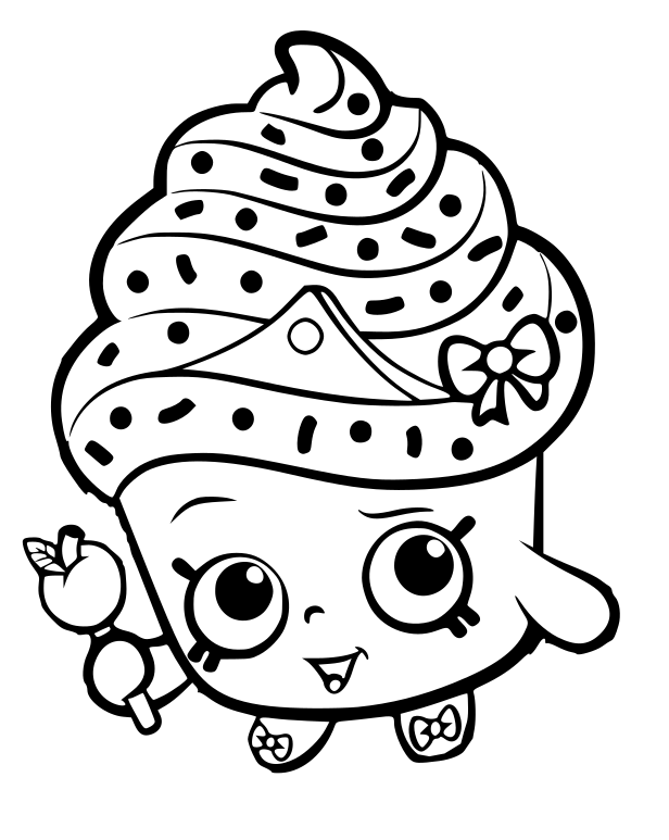 shopkins cupcake coloring pages cupcake drawing outline at getdrawings free download pages cupcake shopkins coloring