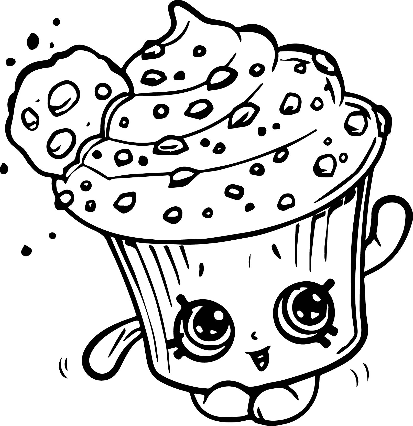 shopkins cupcake coloring pages shopkin coloring pages at getdrawings free download shopkins coloring cupcake pages