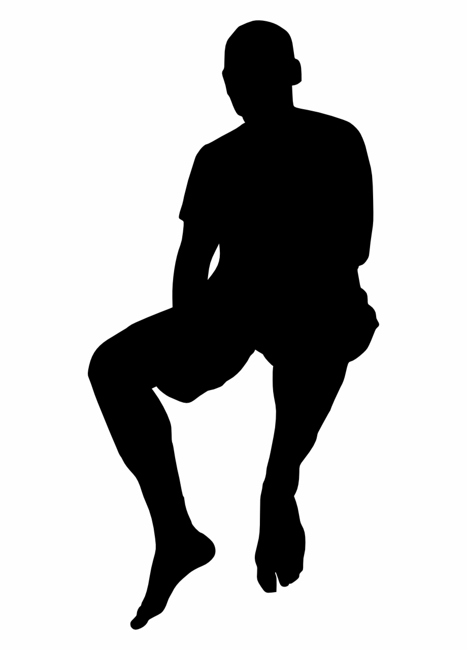 silhouette of a person sitting person sitting vector at vectorifiedcom collection of of a silhouette person sitting