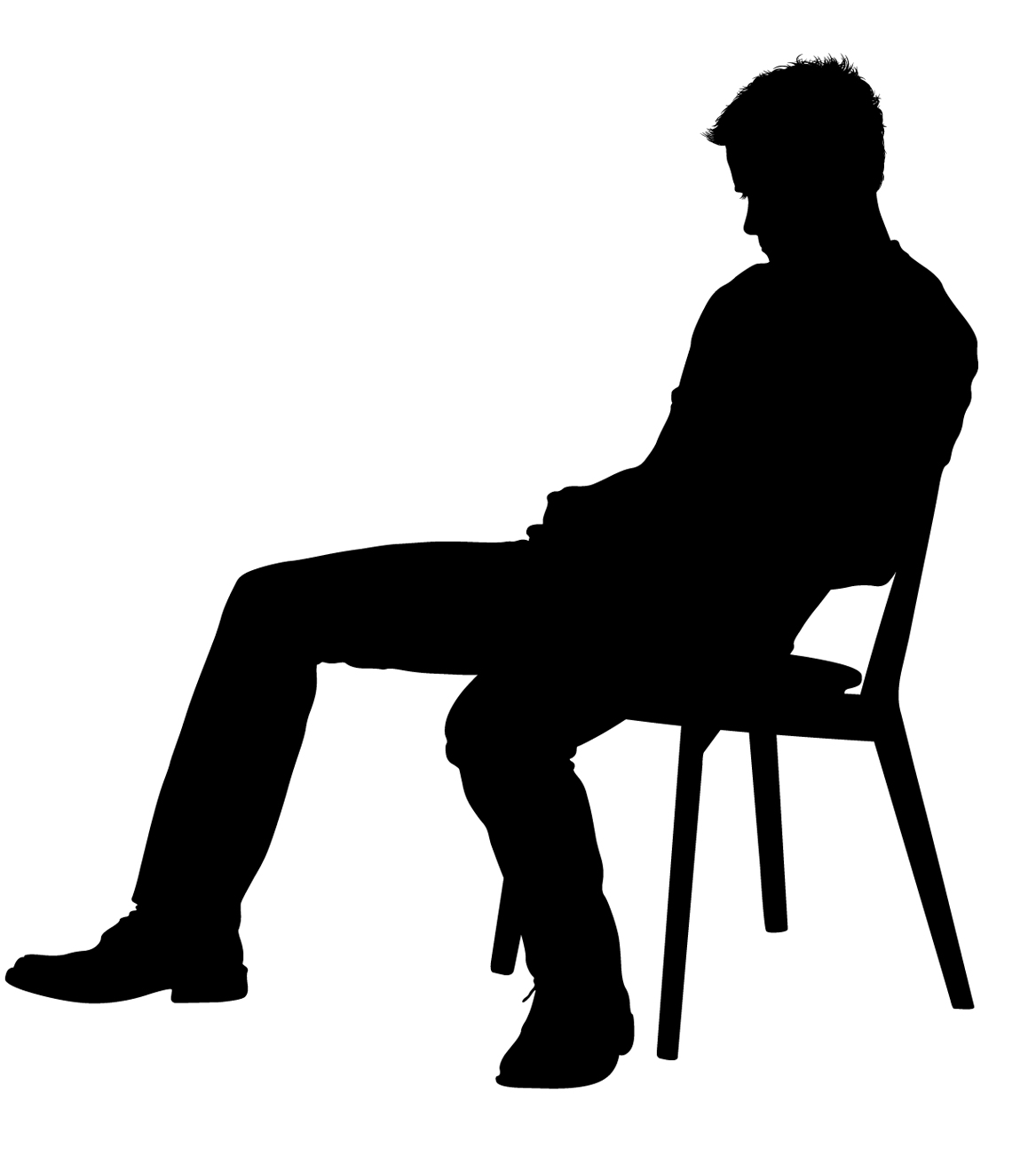 silhouette of a person sitting silhouette person sitting on chair png free transparent person a sitting of silhouette