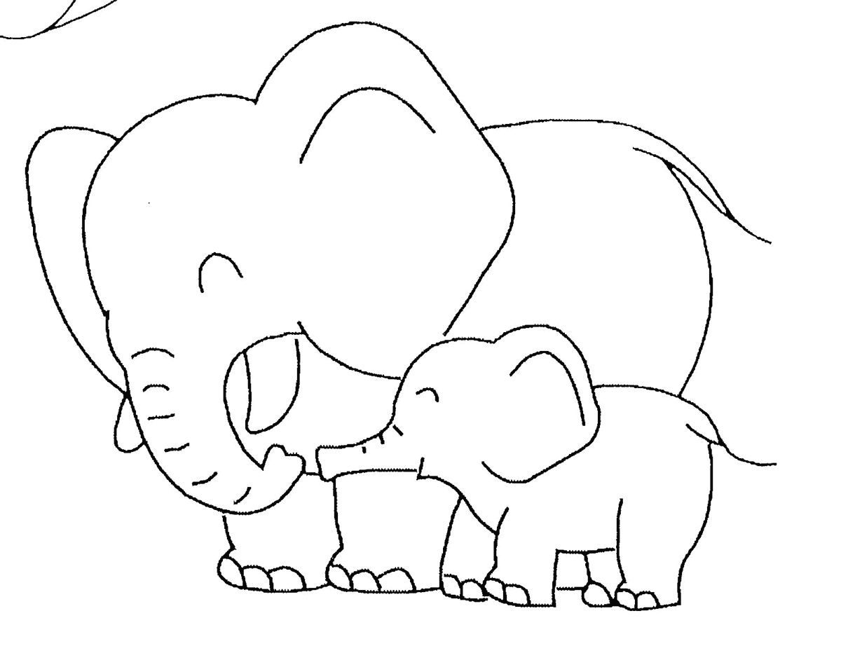 simple baby elephant coloring pages 13 cute baby elephant printable coloring sheet pages elephant simple baby coloring