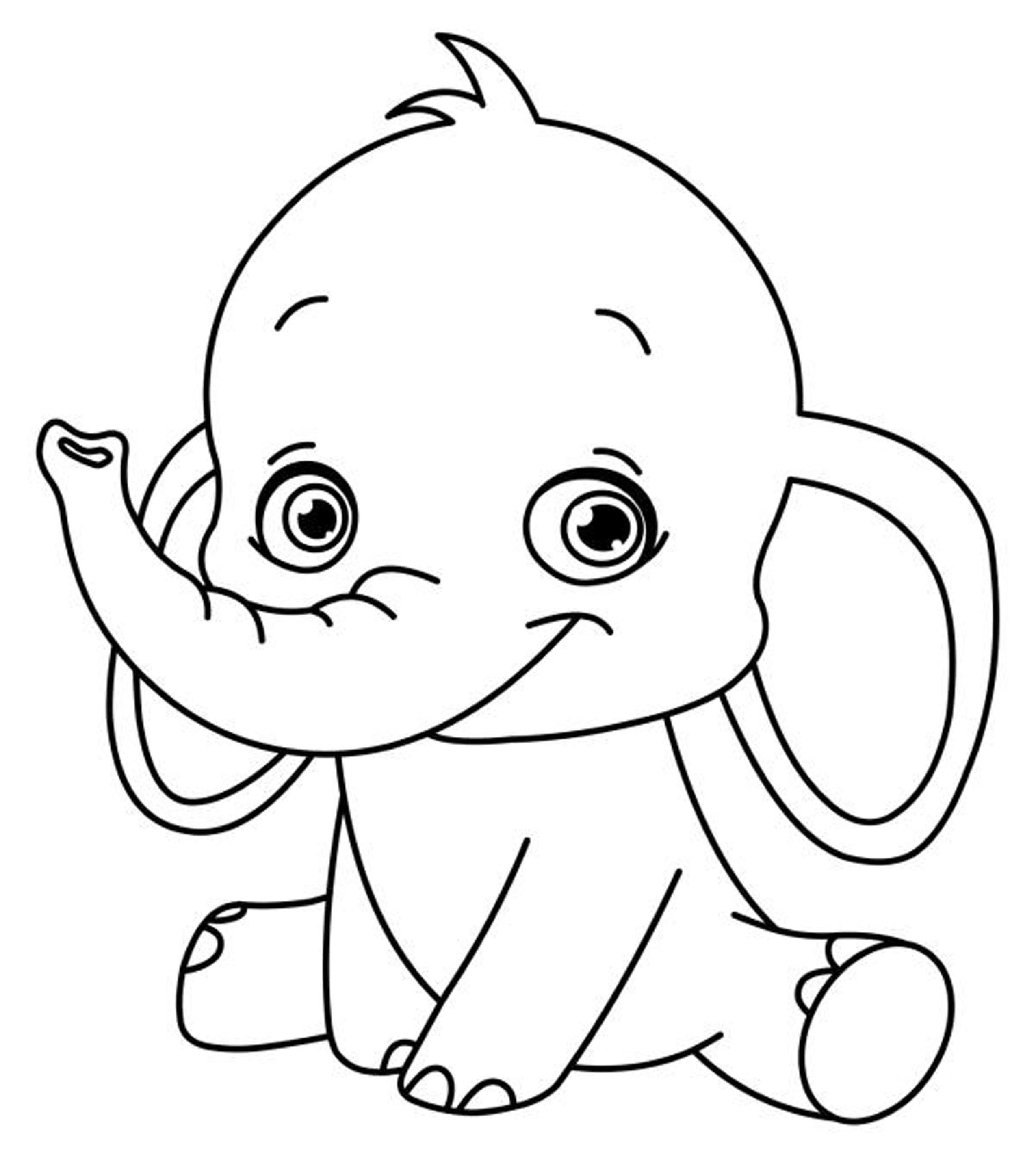 simple baby elephant coloring pages baby elephant coloring pages to download and print for free simple coloring baby pages elephant