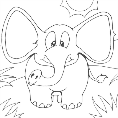 simple baby elephant coloring pages cute little elephant coloring page elephant coloring baby elephant simple pages coloring