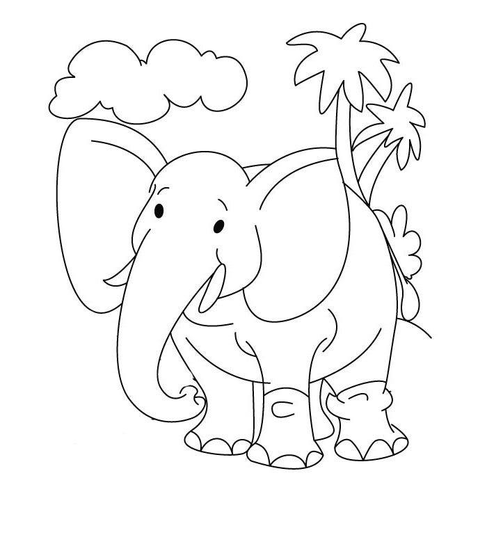 simple baby elephant coloring pages easy drawing of elephant at getdrawings free download coloring elephant simple baby pages