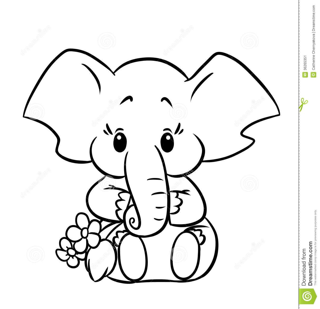 simple baby elephant coloring pages elephant cartoon drawing at getdrawings free download elephant simple pages coloring baby