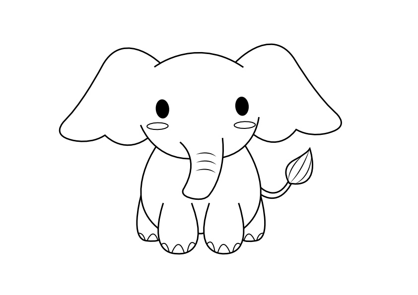 simple baby elephant coloring pages elephant drawing tumblr at getdrawings free download coloring simple baby pages elephant