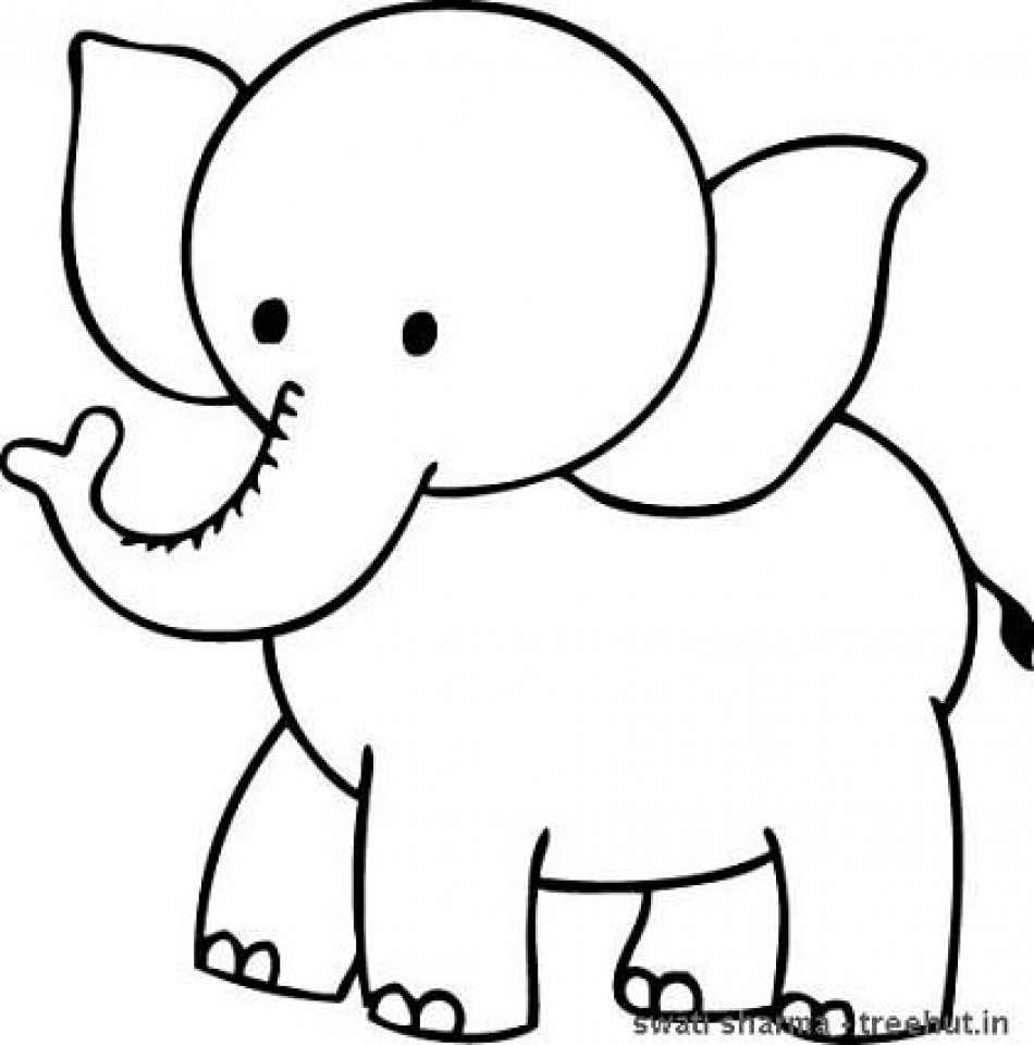 simple baby elephant coloring pages elephant template animal templates free premium simple baby pages coloring elephant