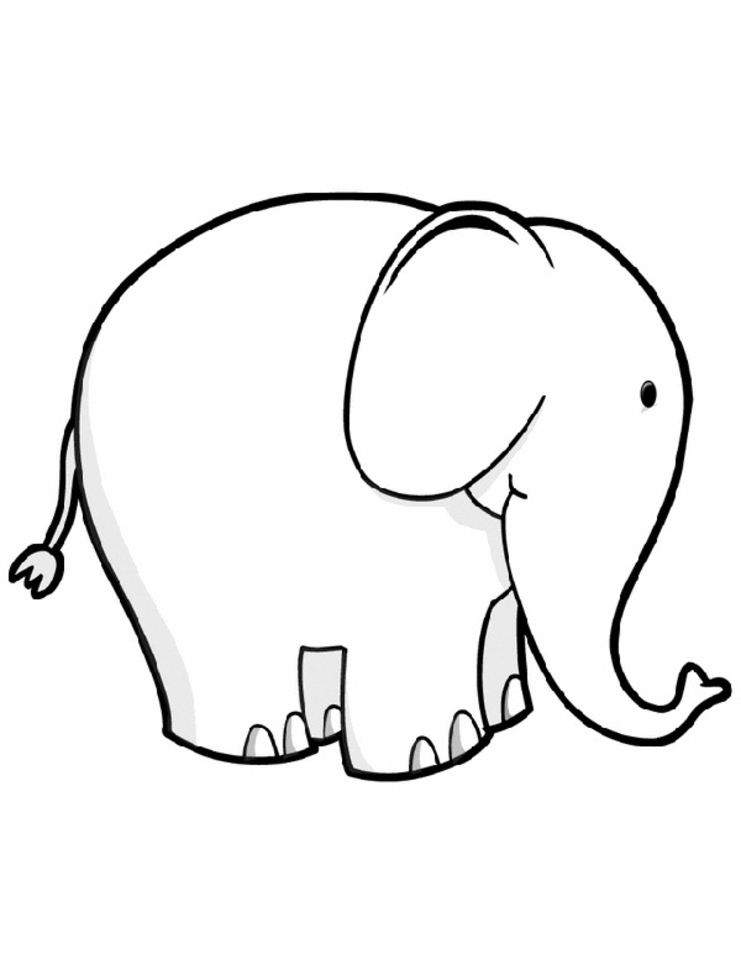 simple baby elephant coloring pages free easy to print elephant coloring pages tulamama pages elephant simple coloring baby