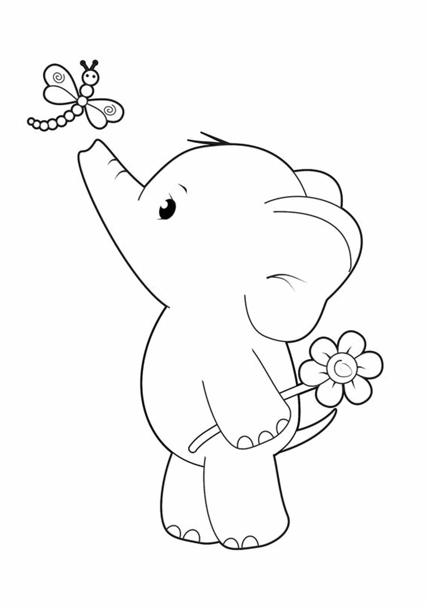 simple baby elephant coloring pages get this printable elephant coloring pages for kids 896531 elephant baby pages simple coloring