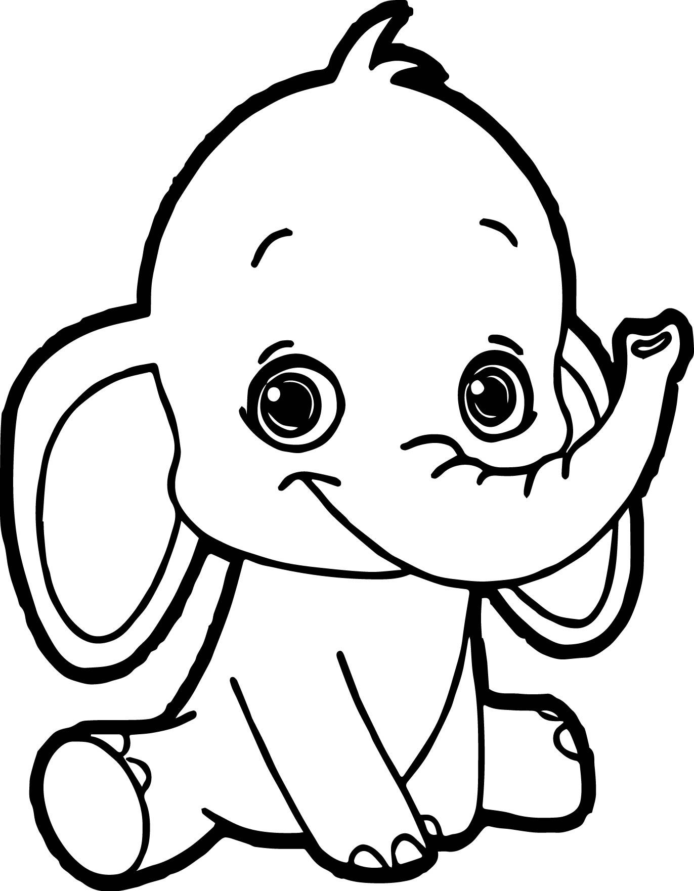 simple baby elephant coloring pages simple elephant drawing at getdrawings free download elephant coloring pages simple baby