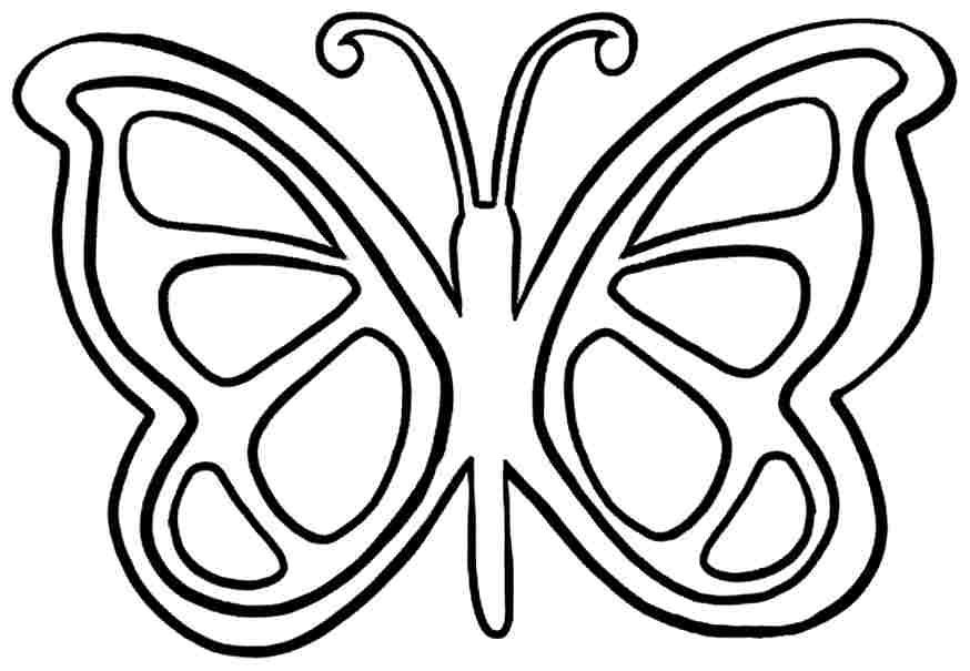 simple easy butterfly coloring pages 6 pics of easy butterfly coloring pages simple butterfly coloring simple pages butterfly easy