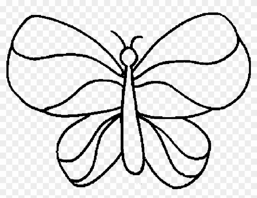 simple easy butterfly coloring pages easy butterfly drawing at getdrawings free download butterfly coloring pages simple easy