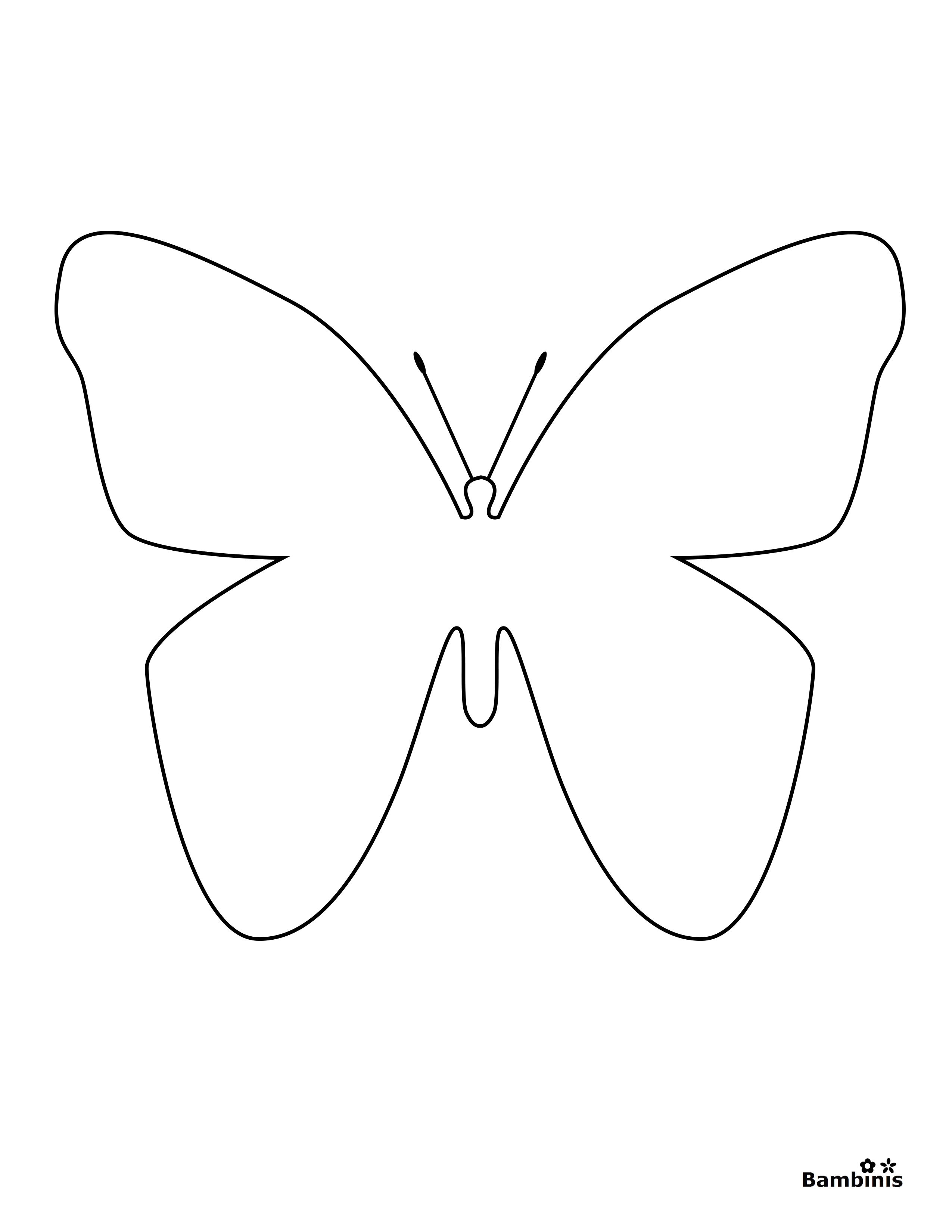 simple easy butterfly coloring pages simple butterfly coloring pages coloring pages for kids simple butterfly pages coloring easy