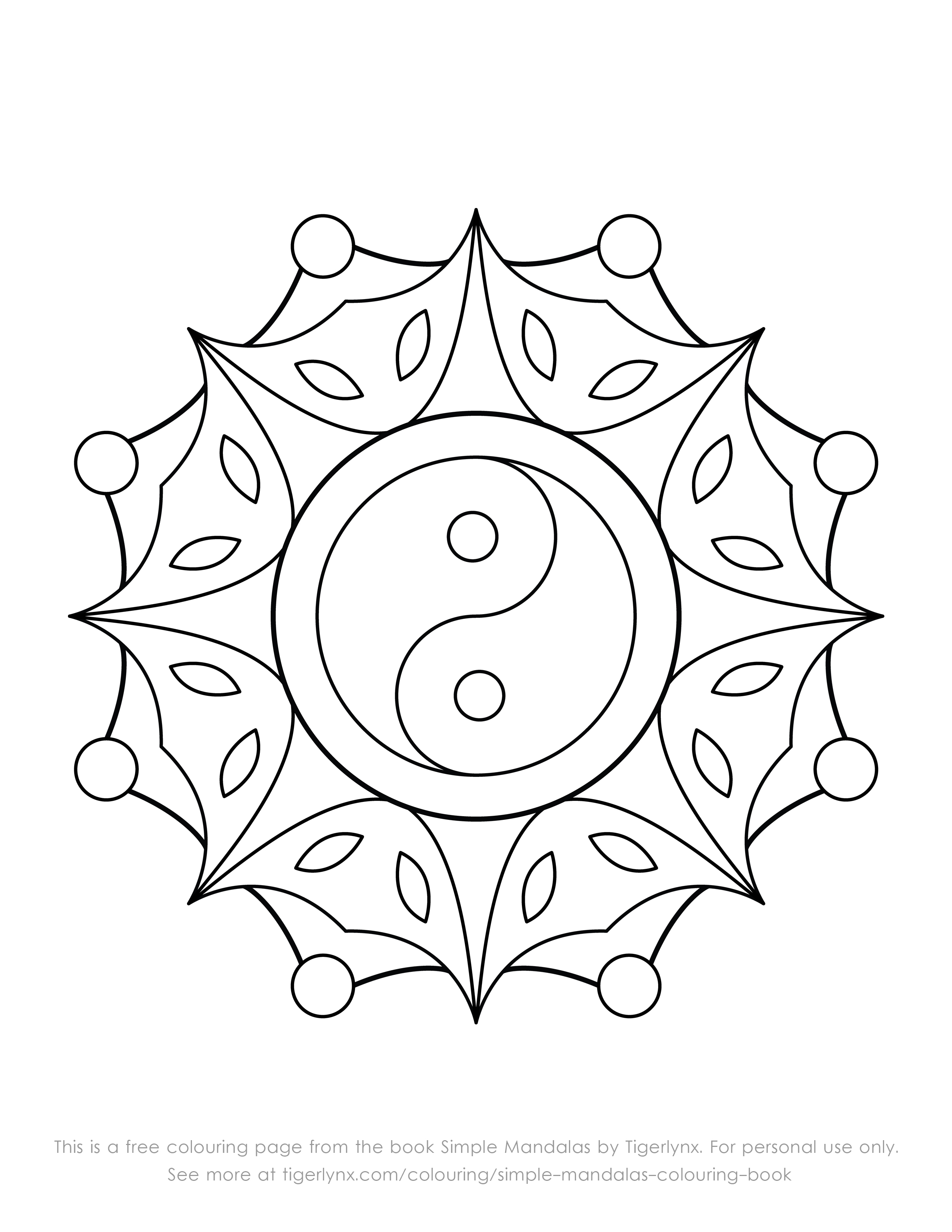 simple mandalas colouring books and pages simple mandalas