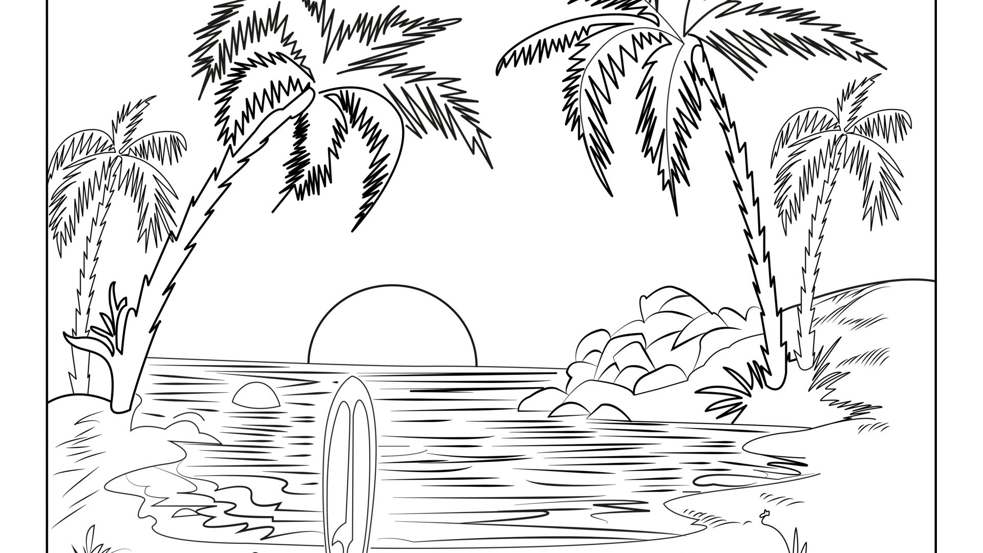 simple nature coloring pages printable nature coloring pages for kids pages coloring simple nature