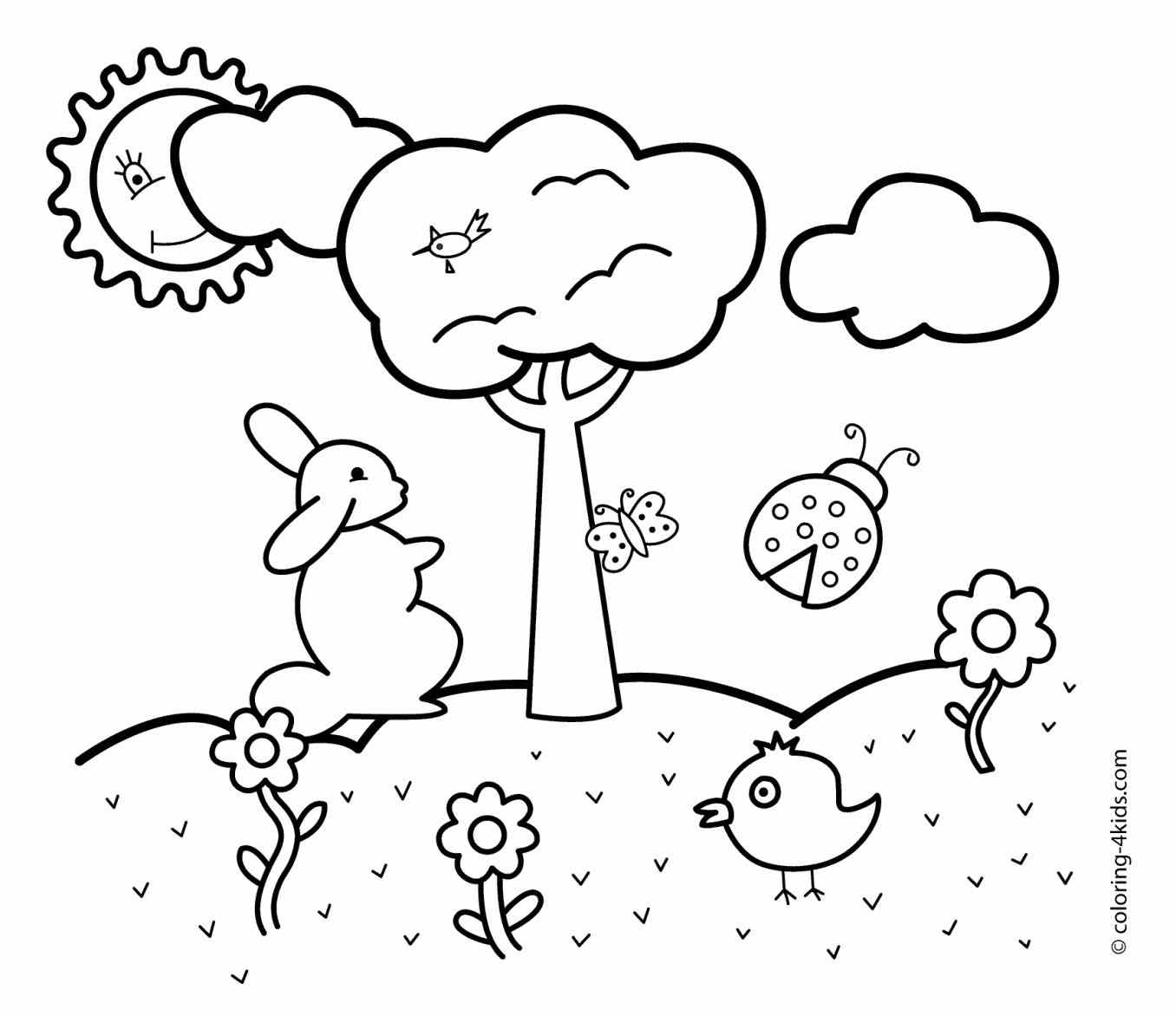 simple nature coloring pages season and weather coloring pages momjunction coloring nature simple pages