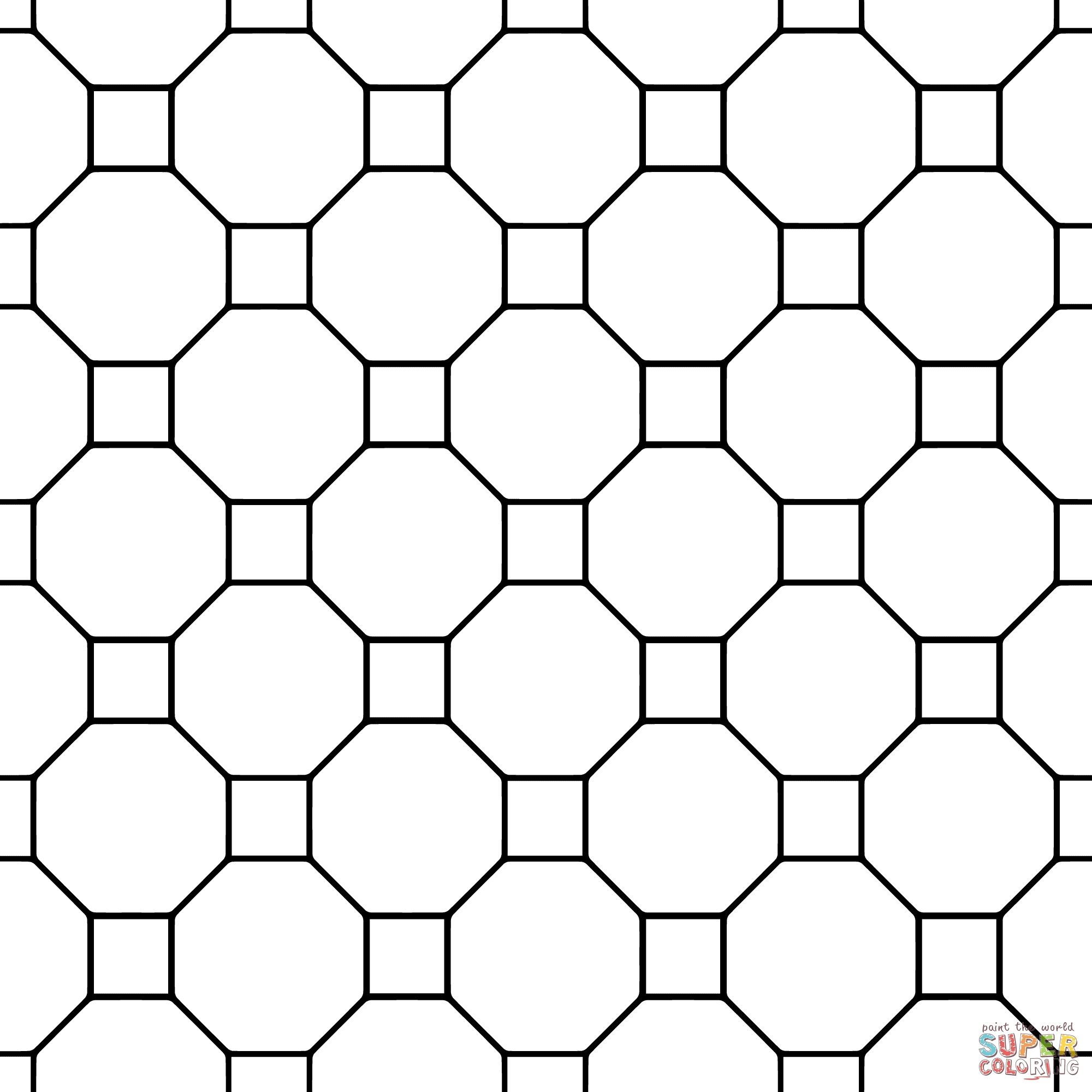 simple tessellation worksheets coloriage tesselation avec carrés et triangles worksheets tessellation simple