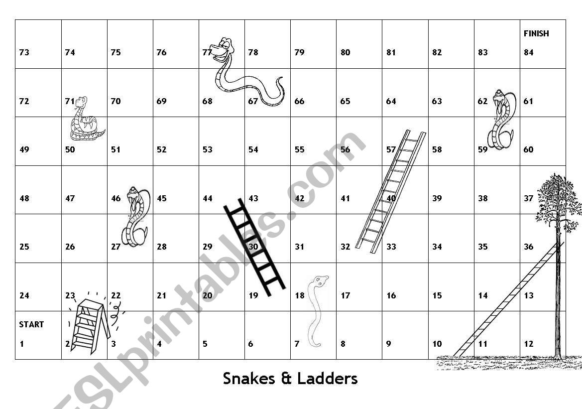 snakes and ladders printable board game snakes ladders with english game snakes printable ladders and