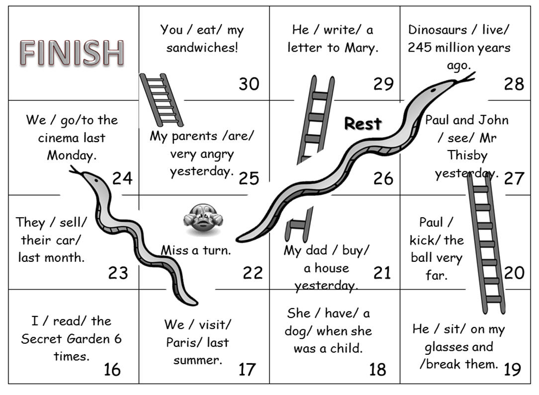 snakes and ladders printable snakes and ladders past simple snakes ladders printable and