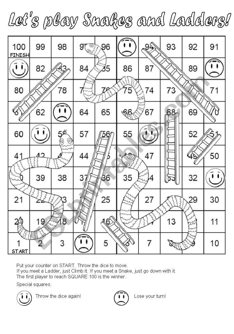 snakes and ladders printable spelling snakes and ladders and ladders snakes printable
