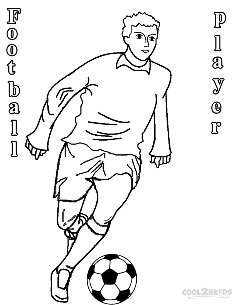 soccer player colouring pages a soccer player doing a heading to make a goal coloring colouring soccer player pages
