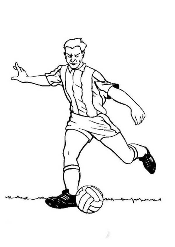 soccer player colouring pages images of football player clipartsco player colouring soccer pages