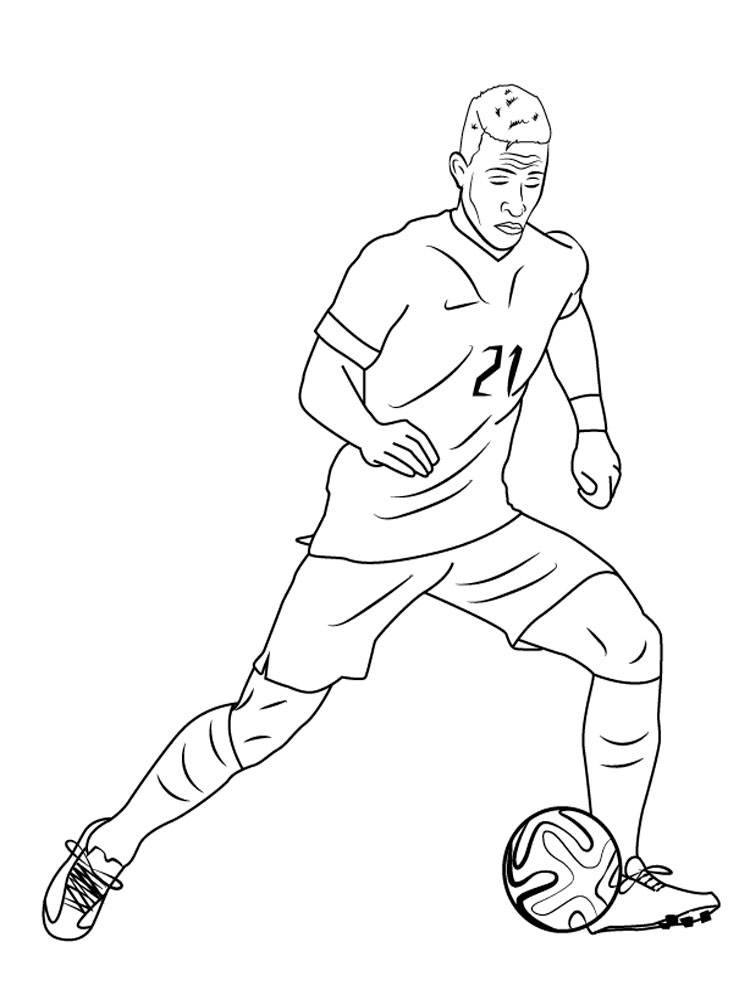 soccer player colouring pages soccer coloring page serious player ready to kick colouring soccer pages player