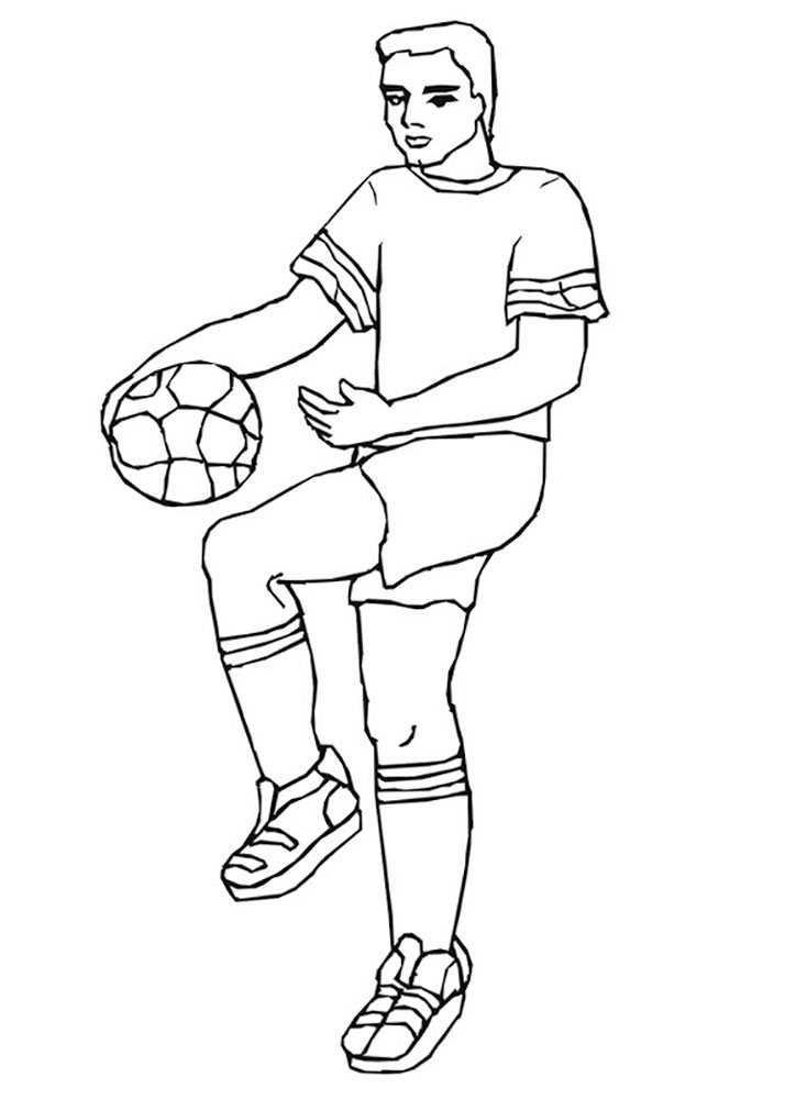 soccer player colouring pages soccer player coloring pages pages colouring player soccer