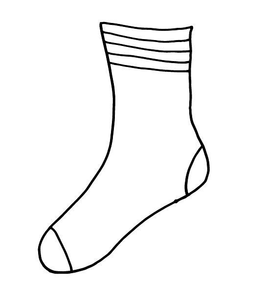 sock coloring page sock clipart outline 20 free cliparts download images on sock coloring page