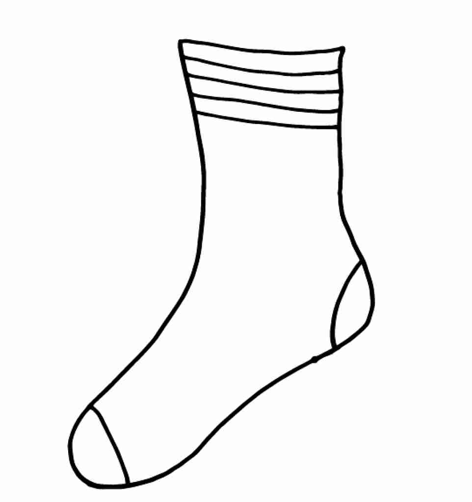 sock coloring page sock coloring page at getcoloringscom free printable coloring sock page 1 1