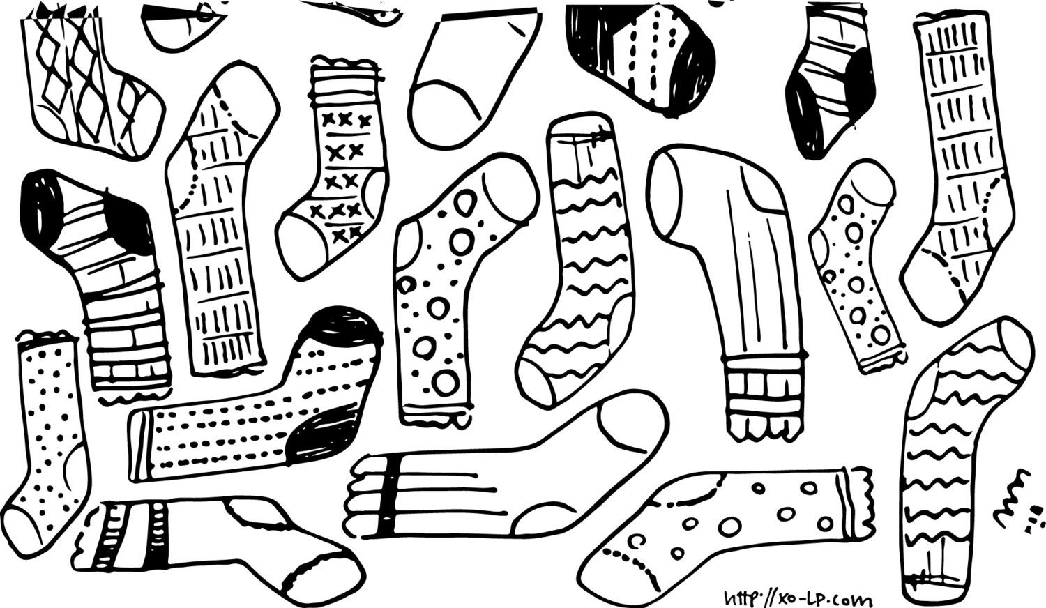 sock coloring page sock coloring page at getcoloringscom free printable page coloring sock