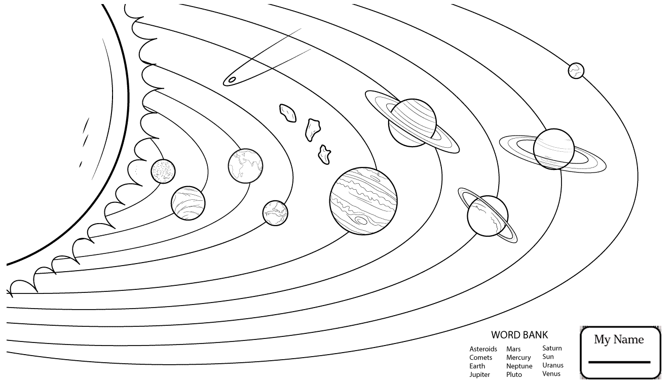 solar system colouring in solar system coloring pages pdf at getcoloringscom free system in solar colouring