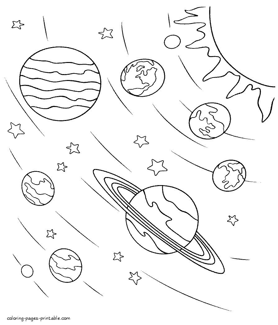 solar system colouring in solar system drawing at getdrawings free download colouring system solar in