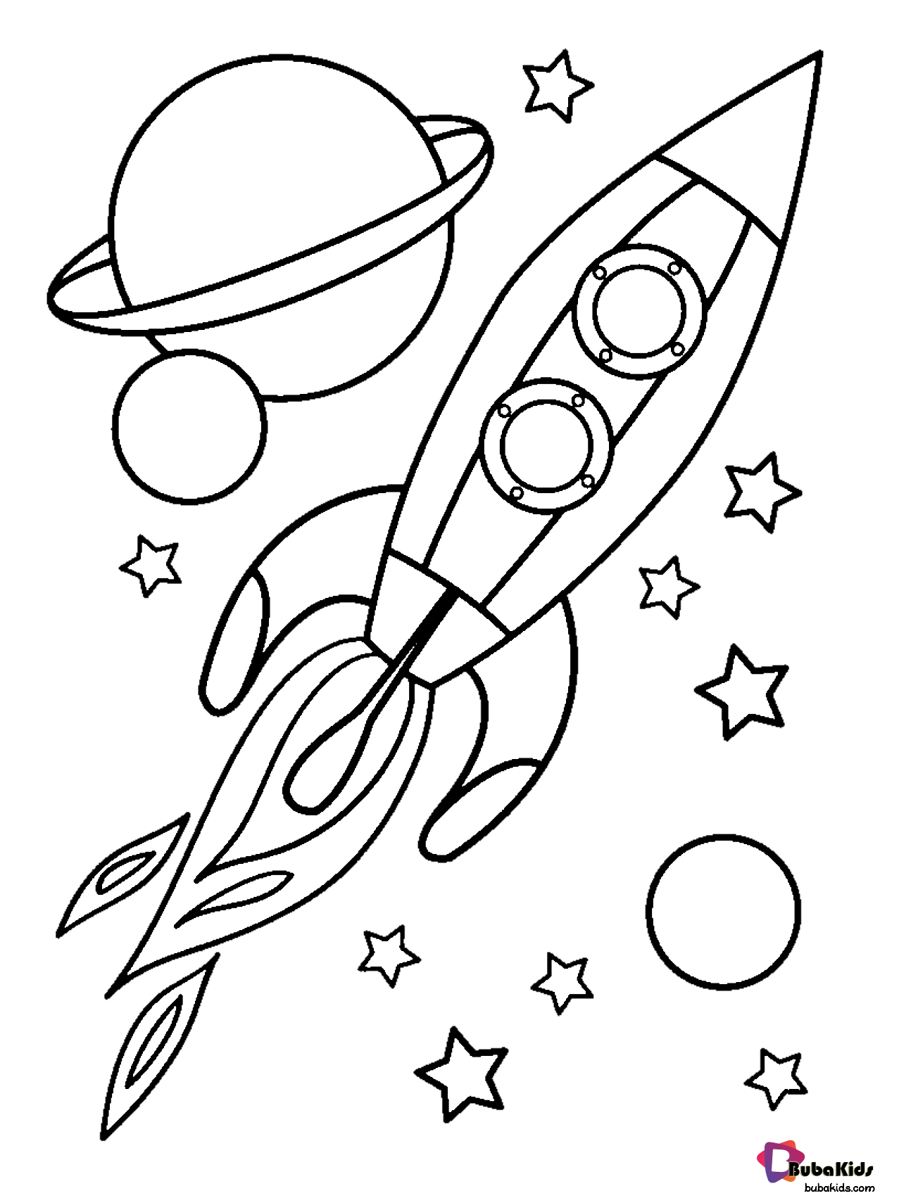 space printable coloring pages planets stars and rocket in outer space coloring page coloring space printable pages