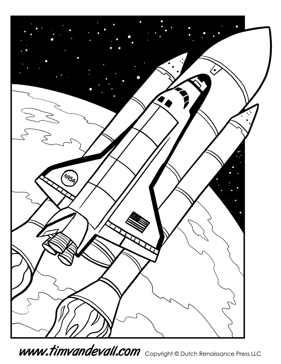 space printable coloring pages space shuttle coloring page tim39s printables space printable pages coloring