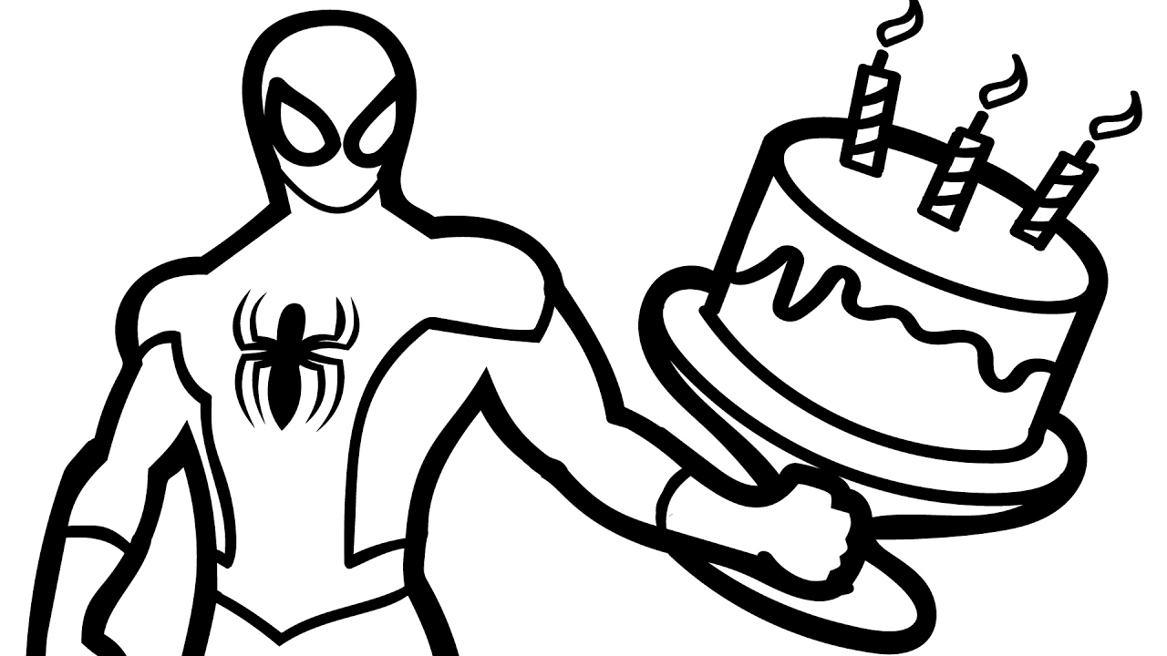 spiderman happy birthday coloring pages the best ideas for spiderman coloring pages for toddlers spiderman pages birthday happy coloring