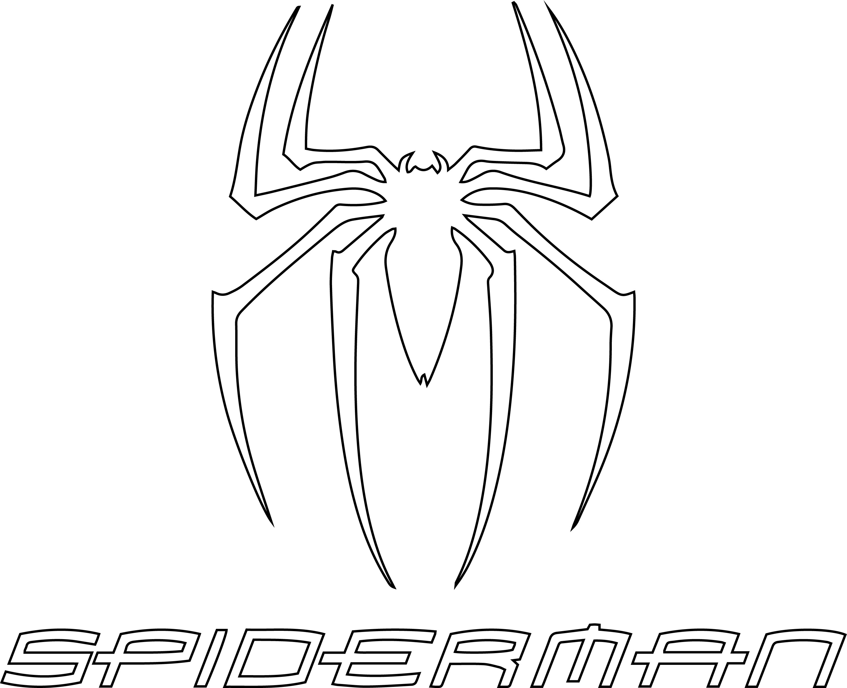 spiderman symbol coloring pages spiderman coloring pages free download on clipartmag spiderman pages symbol coloring