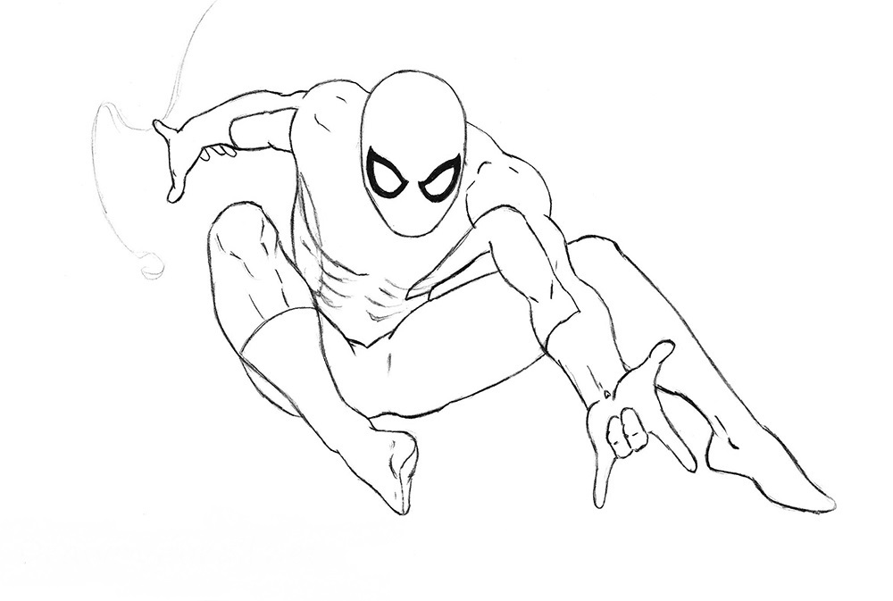 spiderman traceable spider man pencil drawing at getdrawings free download traceable spiderman 1 1