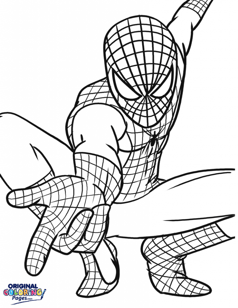 spiderman web coloring pages spider man coloring page for kids spider man web slinging pages spiderman web coloring