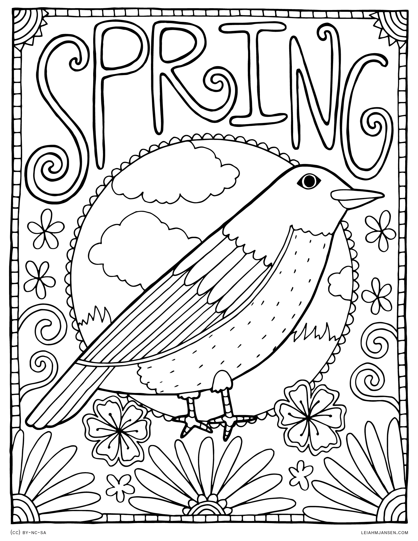 spring birds coloring pages bird coloring page coloring pages nature flower pages spring birds coloring
