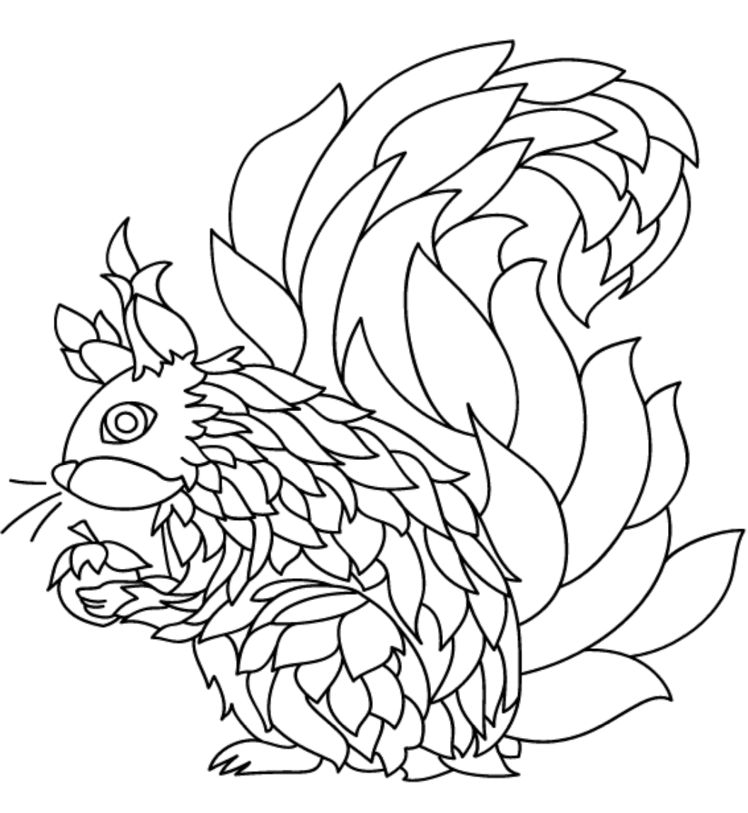 squirrel colouring free printable squirrel coloring pages for kids animal place squirrel colouring