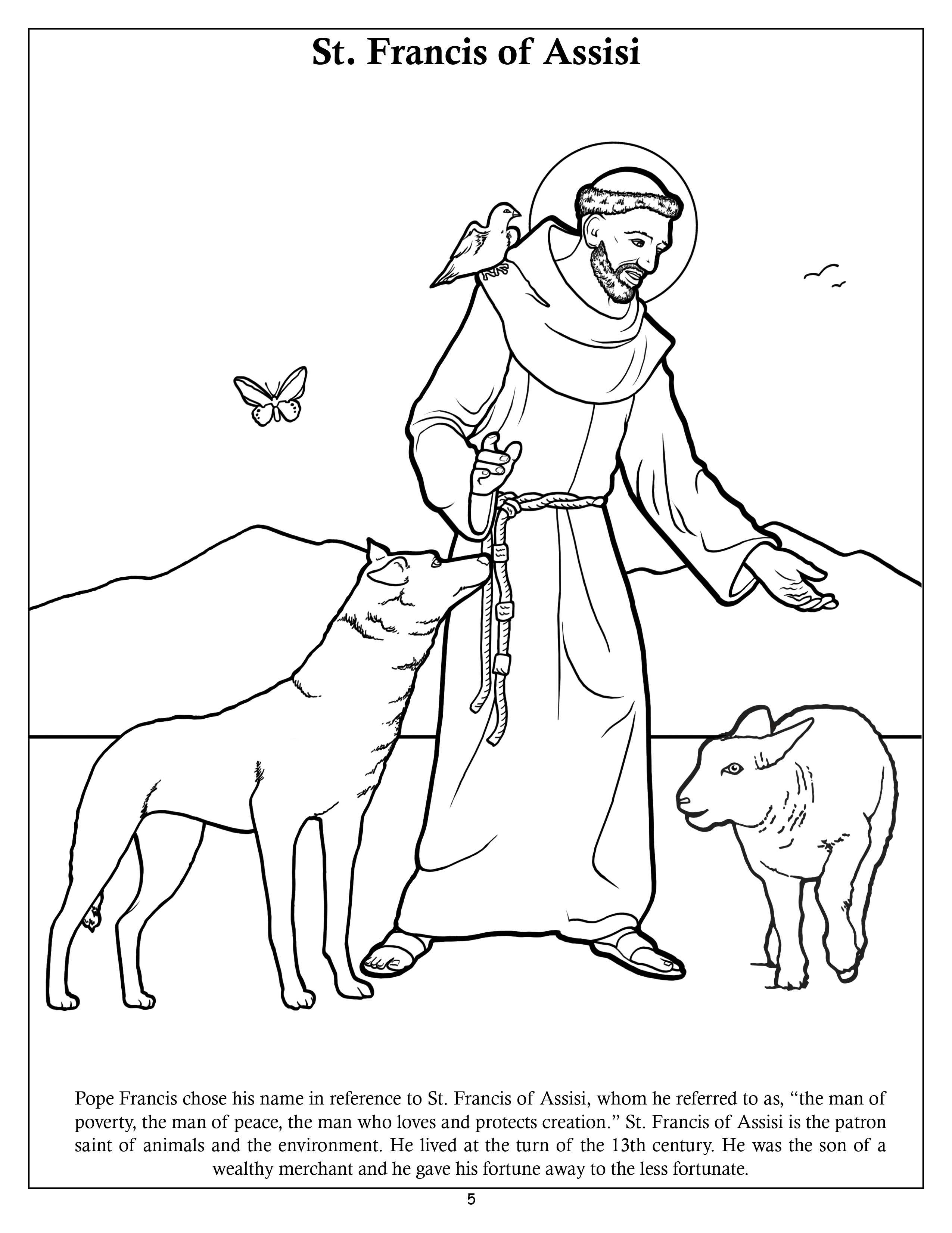 st francis of assisi coloring page 1960823395thumbjpg 9671200 saint francis prayer of assisi page francis coloring st