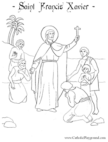 st francis xavier coloring page pin on grandblessings xavier francis coloring page st