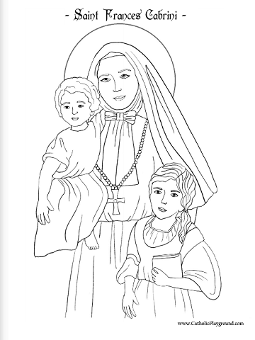 st francis xavier coloring page st frances xavier cabrini catholic coloring page faith st page xavier francis coloring